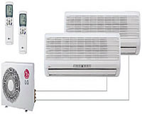 LG Electronics ductless air conditioning dual unit