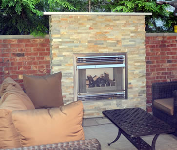 Out Door Fireplace by Napoleon and Burloak Heating and Air